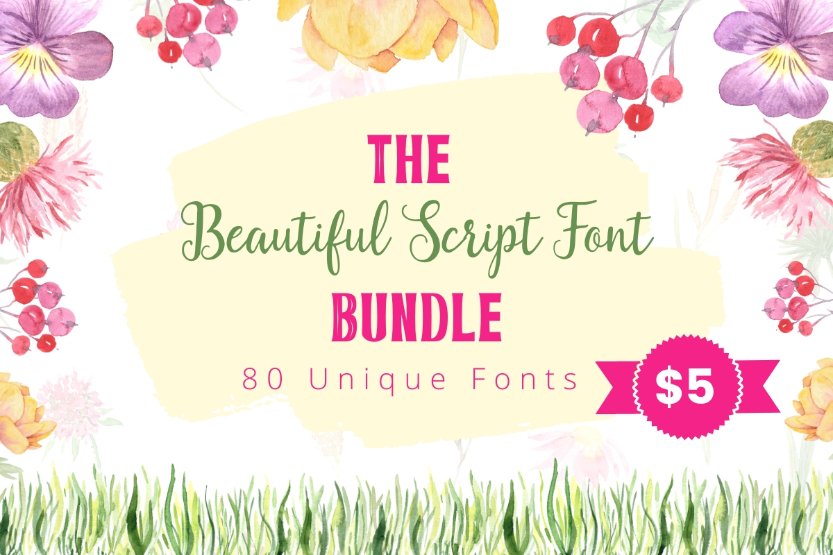 Download Free The Beautiful Script Font Bundle Bundle Creative Fabrica for Cricut Explore, Silhouette and other cutting machines.