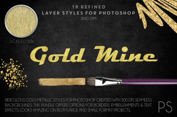The Gold Mine Graphic Layer Styles By FlyGirlMedia