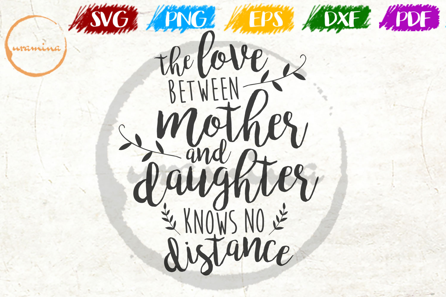 Download Free The Love Between A Mother And Daughter Graphic By Uramina for Cricut Explore, Silhouette and other cutting machines.