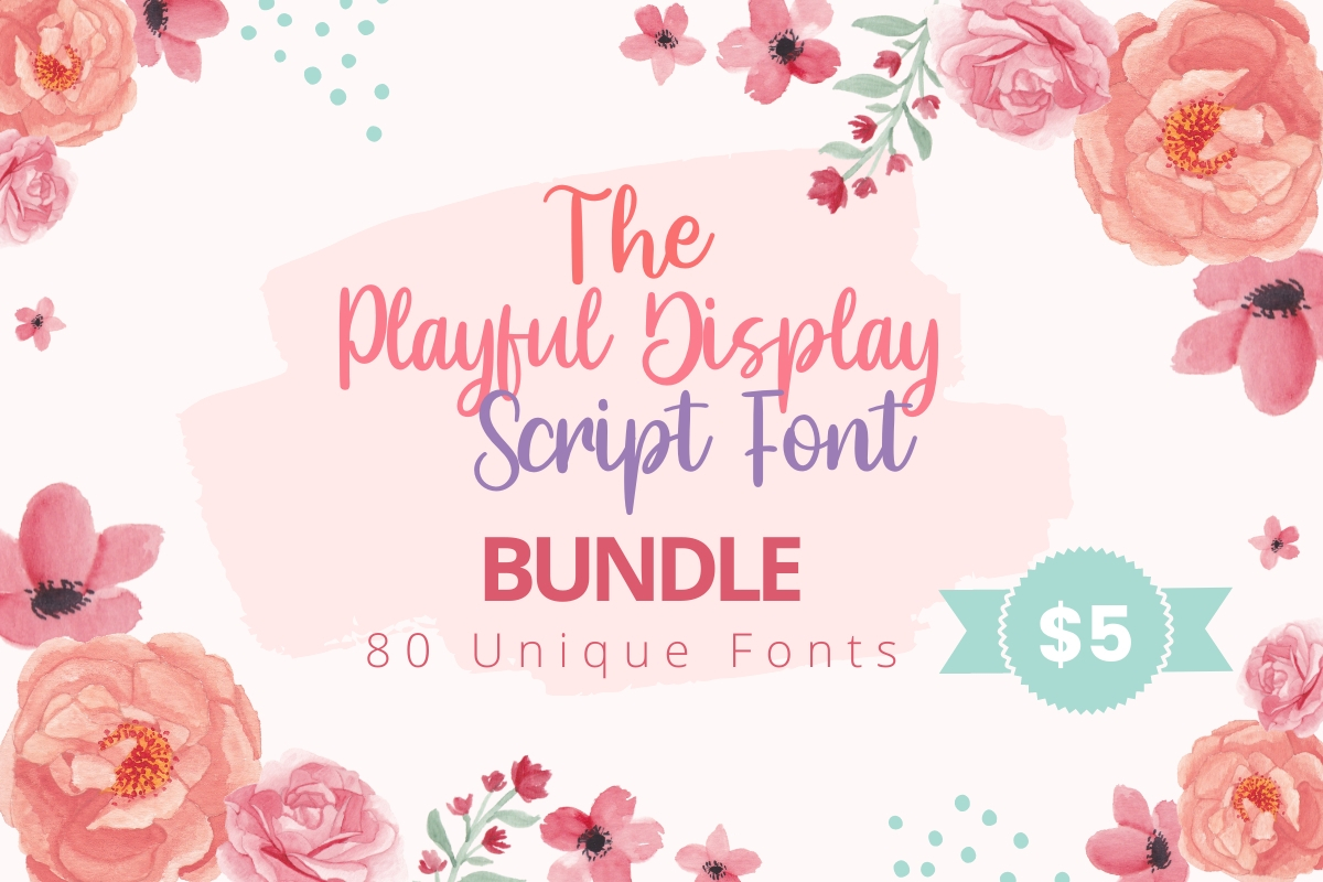 Download Free The Playful Display Scrip Font Bundle Bundle Creative Fabrica for Cricut Explore, Silhouette and other cutting machines.