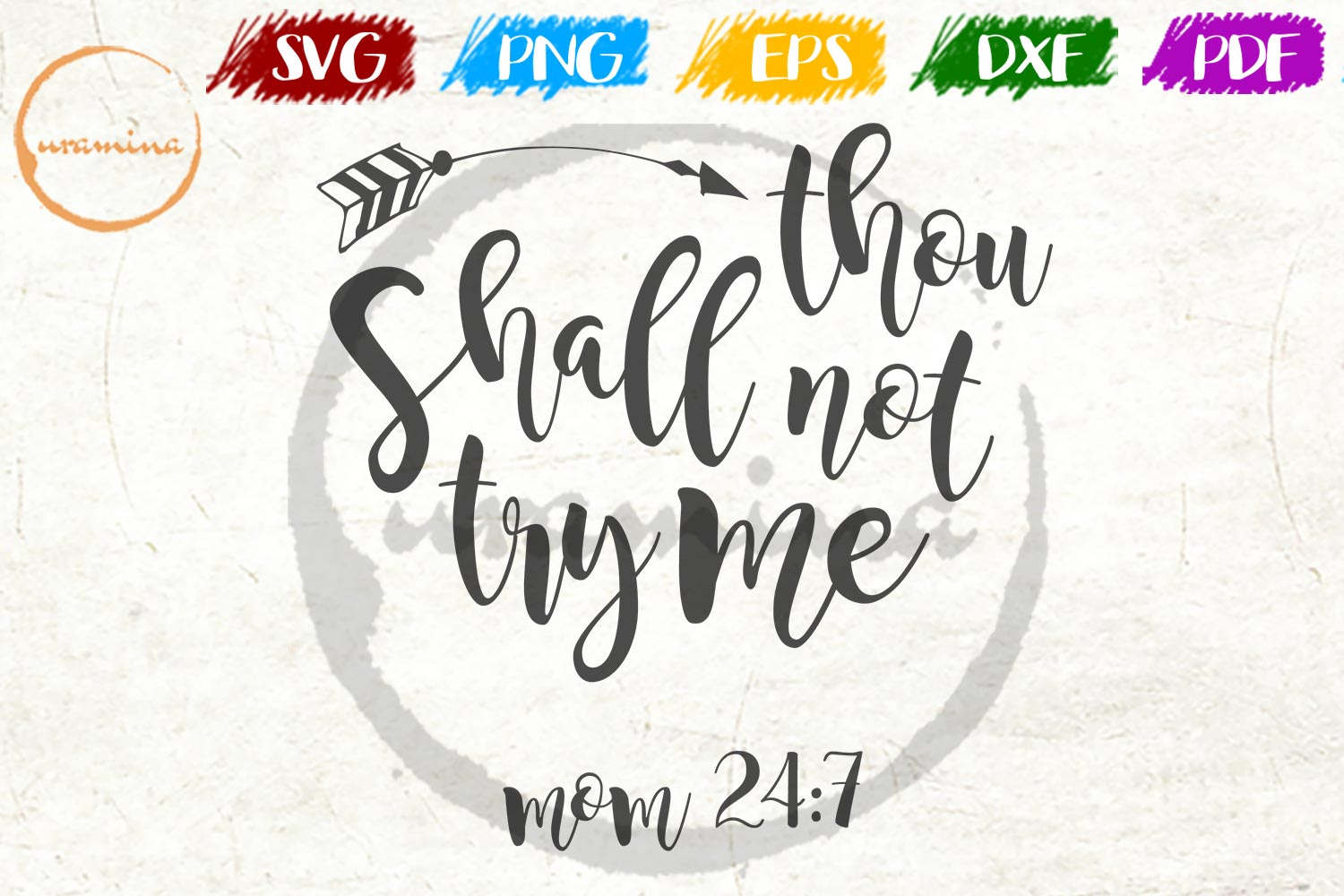 Download Free Thou Shall Not Try Me Graphic By Uramina Creative Fabrica for Cricut Explore, Silhouette and other cutting machines.