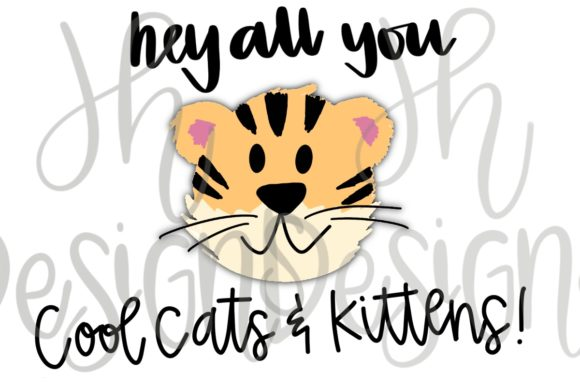 Download Free Tiger Cool Cats And Kittens Graphic By Jh Designs Creative Fabrica for Cricut Explore, Silhouette and other cutting machines.