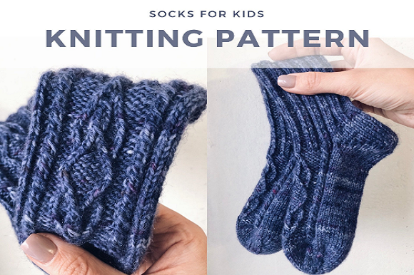 Valery Socks Kids Graphic Knitting Patterns By Neatly Knit Store