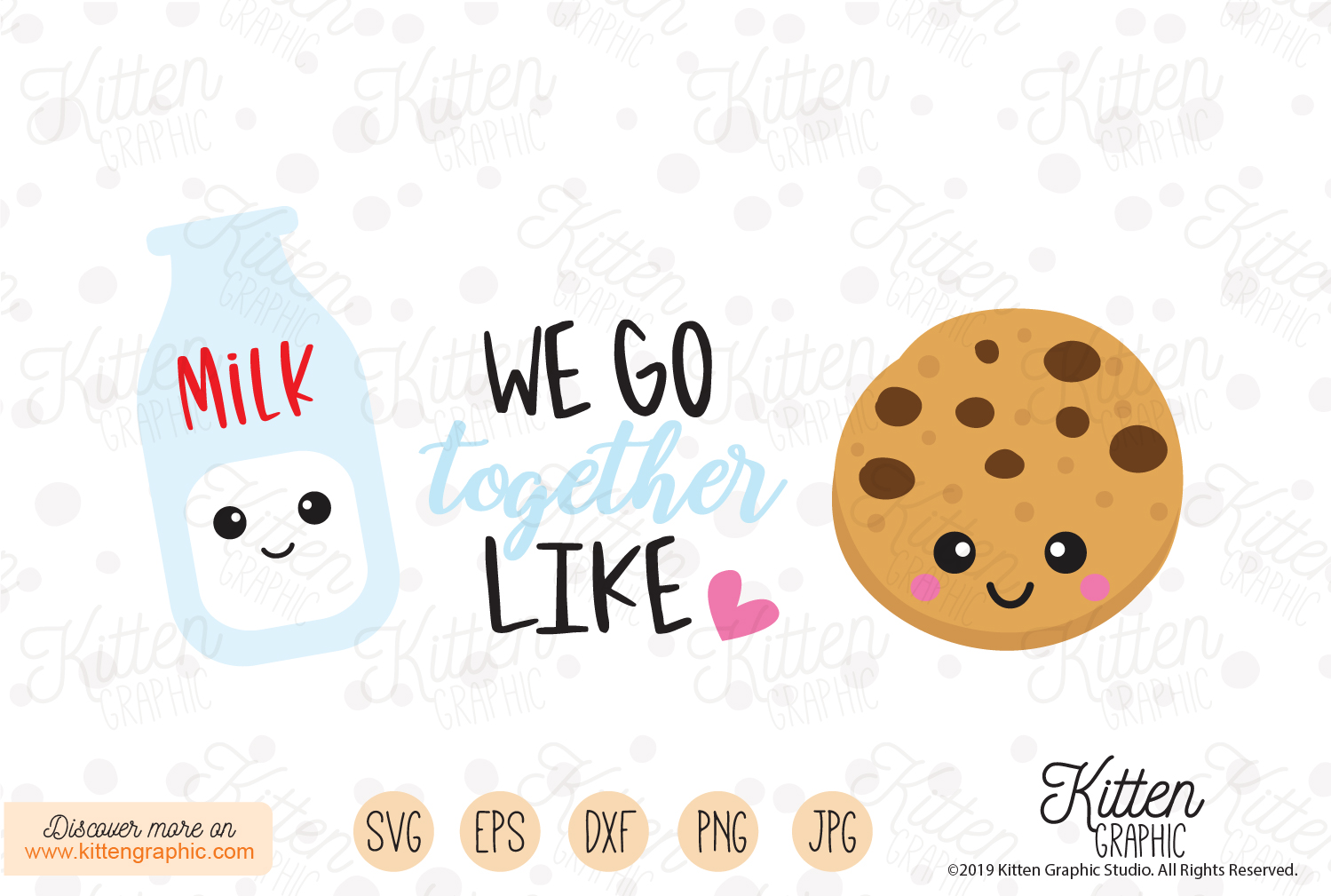 Download Free We Go Together Like Graphic By Kittengraphicstudio Creative for Cricut Explore, Silhouette and other cutting machines.