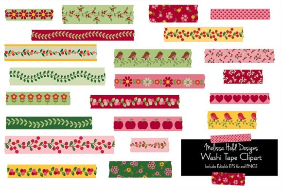Download Free Woodland Washi Tape Clipart Grafik Von Melissa Held Designs for Cricut Explore, Silhouette and other cutting machines.