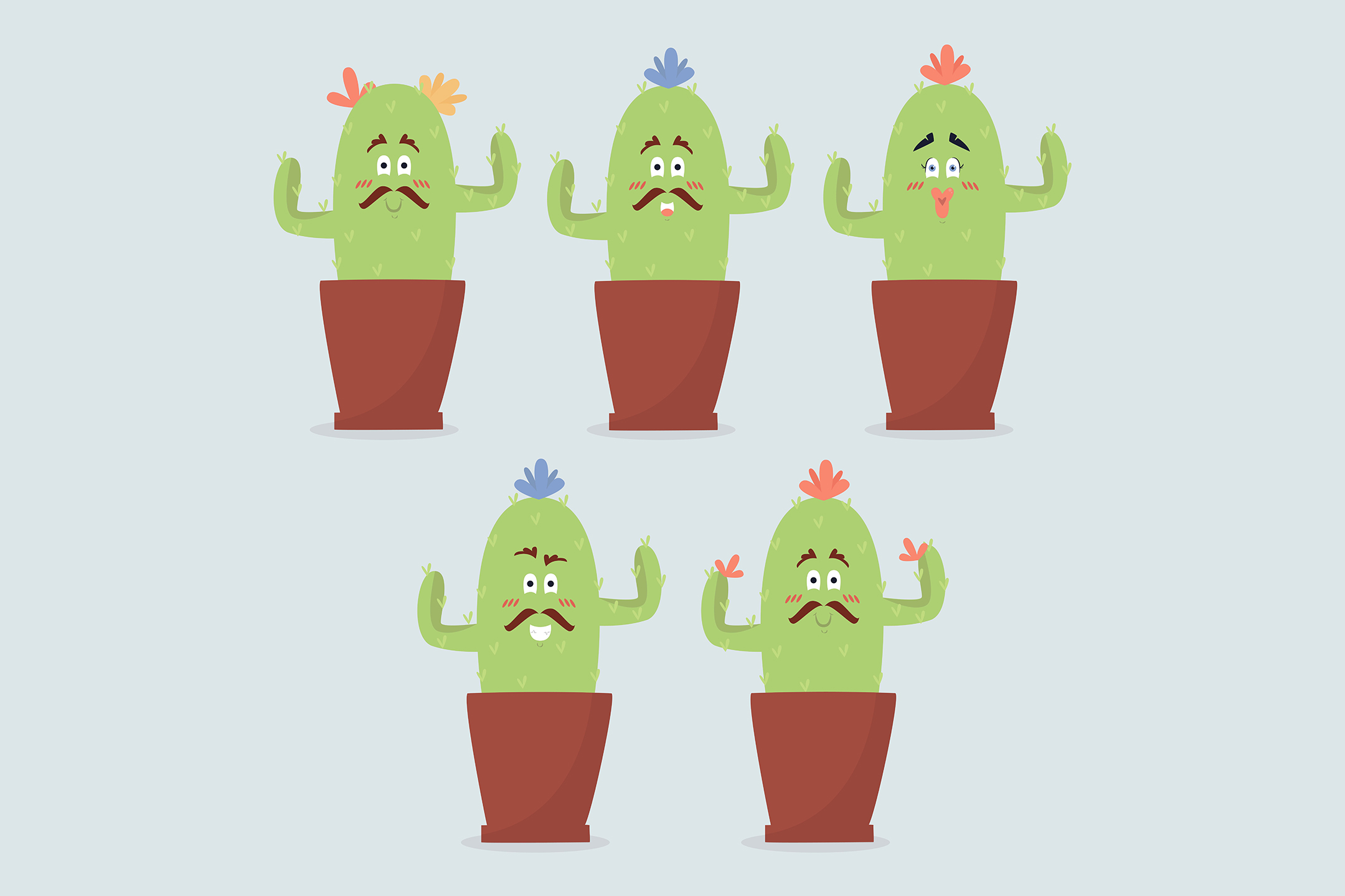 Download Free Cinco De Mayo Funny Cactus Collection Graphic By Aprlmp276 Creative Fabrica for Cricut Explore, Silhouette and other cutting machines.