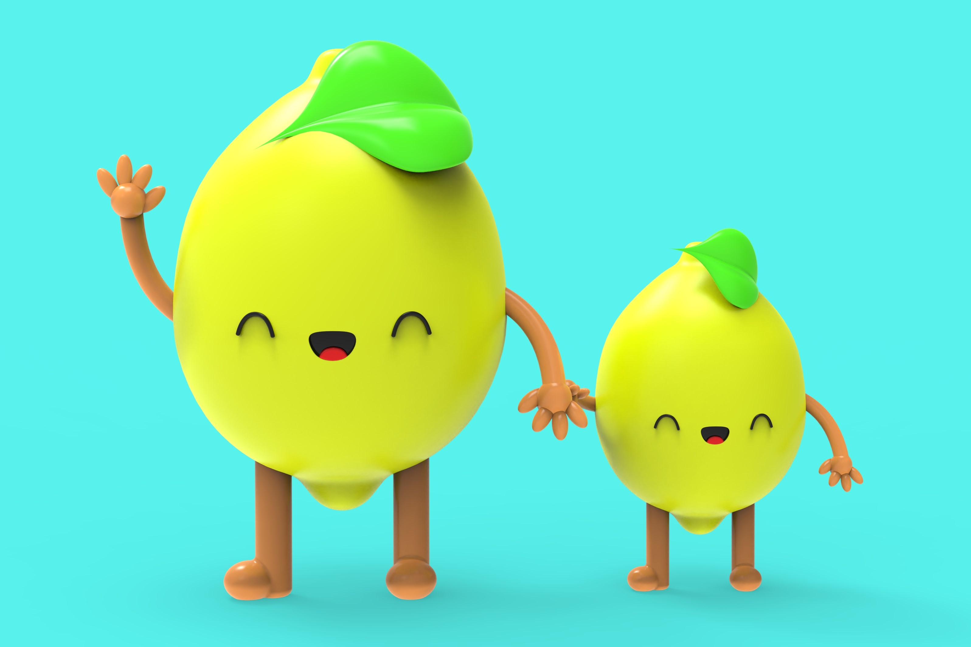 Download Free Cute Lemon Characters 3d Illustration Graphic By Olga for Cricut Explore, Silhouette and other cutting machines.
