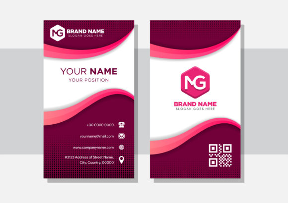 Download Free Dark Pink Background Of Business Card Graphic By Noory Shopper for Cricut Explore, Silhouette and other cutting machines.