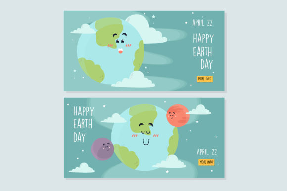 Mother Earth Day Banner Watercolor Graphic By Aprlmp276