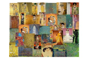 Download Free 35 Gustav Klimt Art Images Bundle Graphic By Scrapbook Attic for Cricut Explore, Silhouette and other cutting machines.