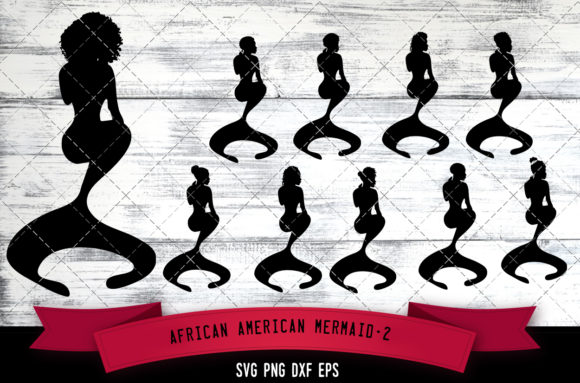 Download Free African American Mermaid Black Graphic By Thesilhouettequeenshop for Cricut Explore, Silhouette and other cutting machines.