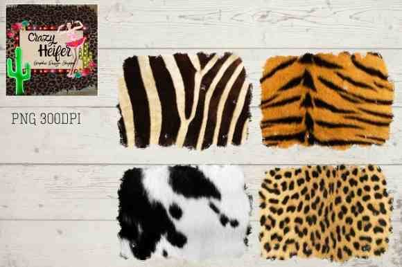 Print on Demand: Animal Print Background Grunge Real Fur Grafik Hintegründe von Crazy Heifer Design Shoppe