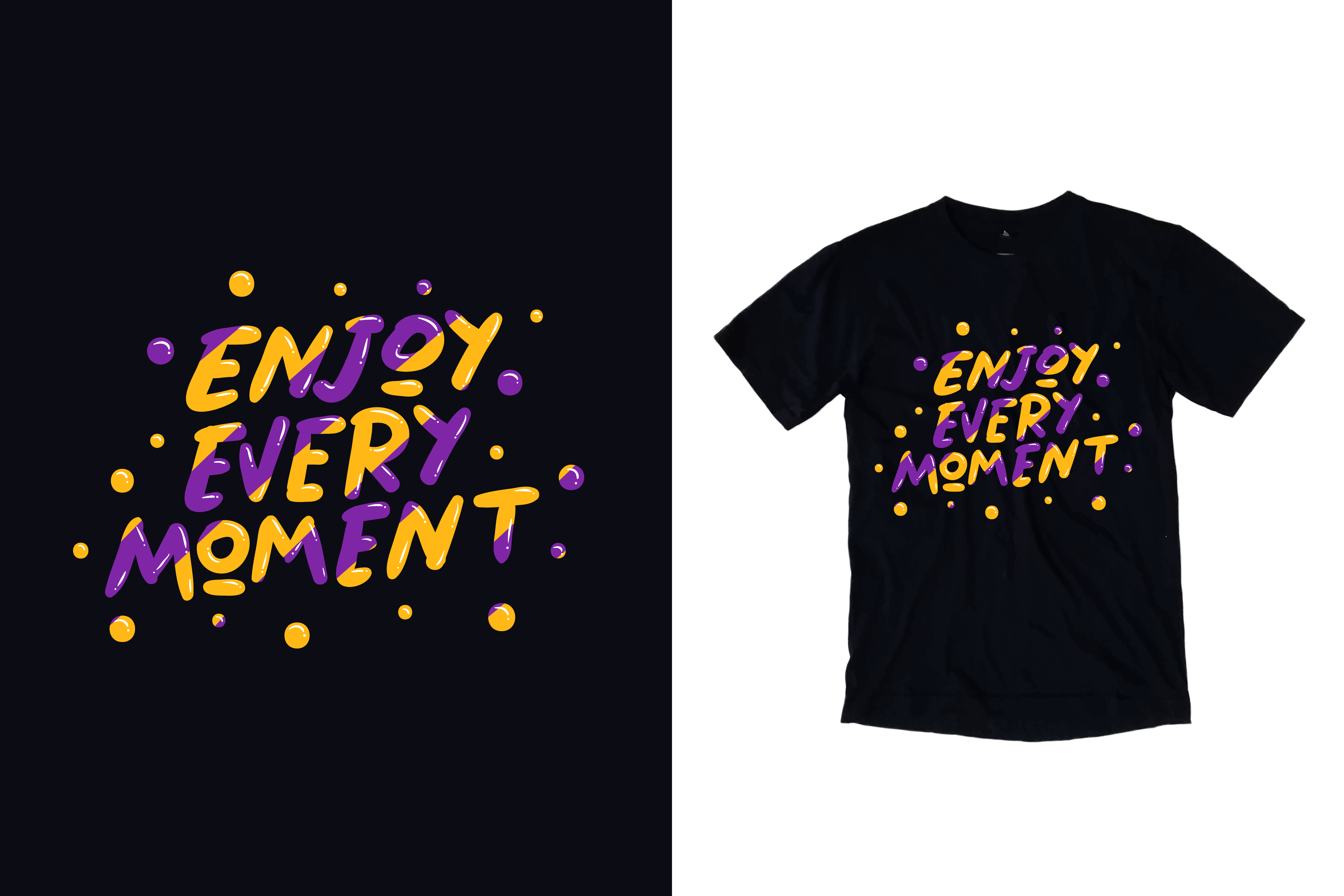 Download Free Black T Shirt Enjoy Every Moment Quote Graphic By Yazriltri for Cricut Explore, Silhouette and other cutting machines.