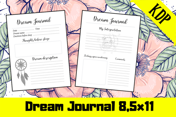 Print on Demand: Dream Journal | KDP Interior Graphic KDP Interiors By KDP Mastermind