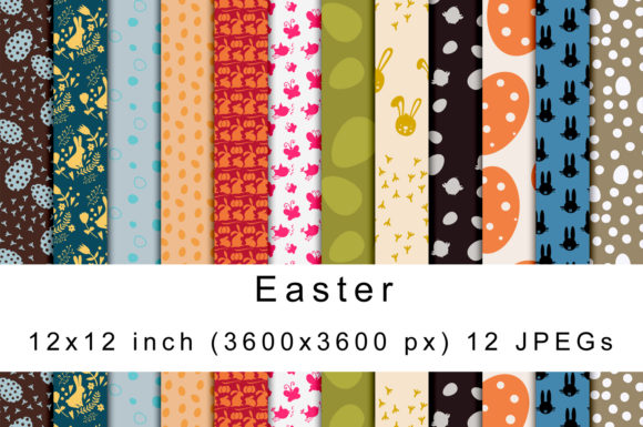 Print on Demand: Easter Digital Papers Graphic Patterns By Andrea Kostelic