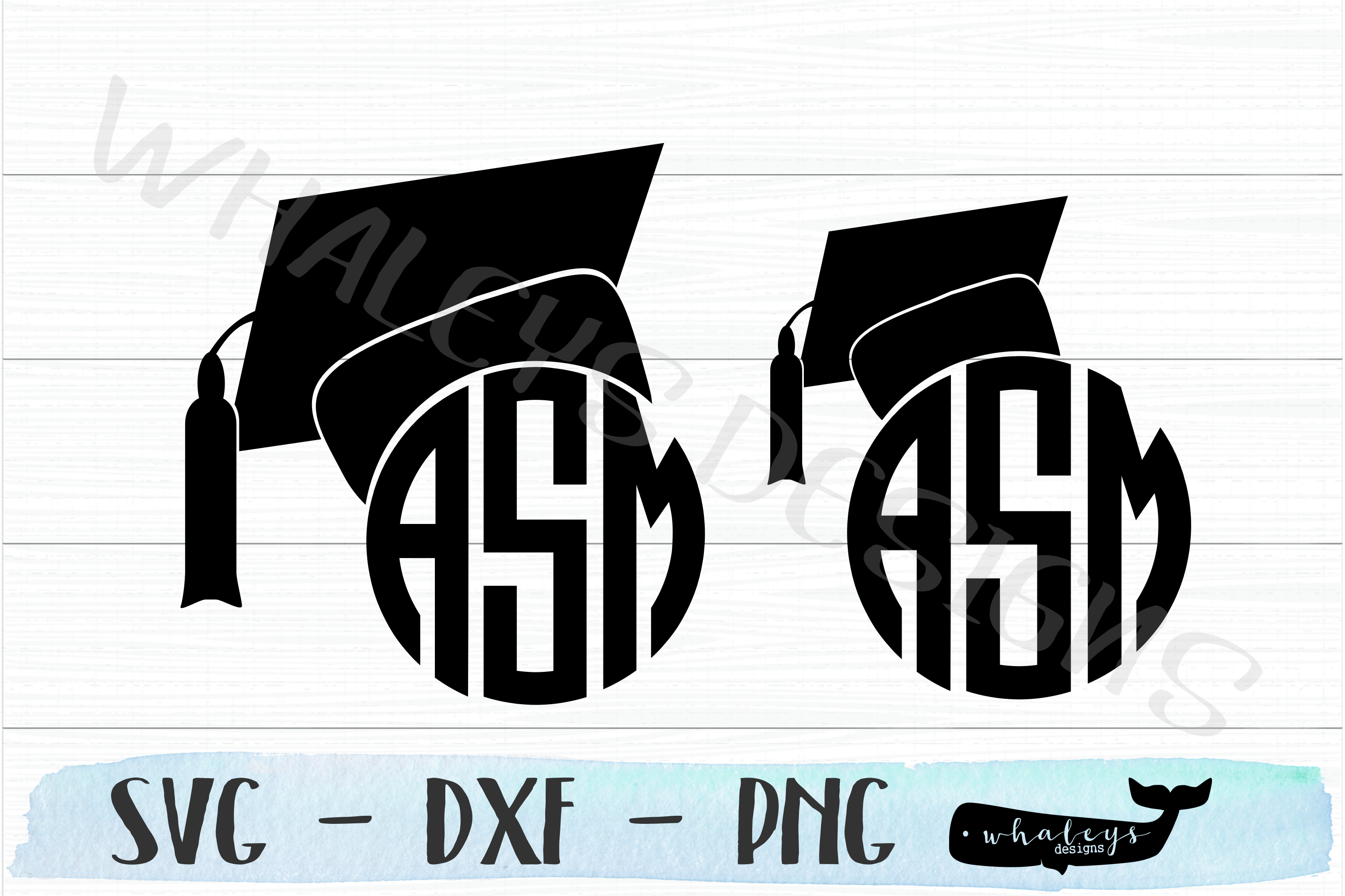 Download Free Graduation Cap Monogram Senior Graphic By Whaleysdesigns for Cricut Explore, Silhouette and other cutting machines.