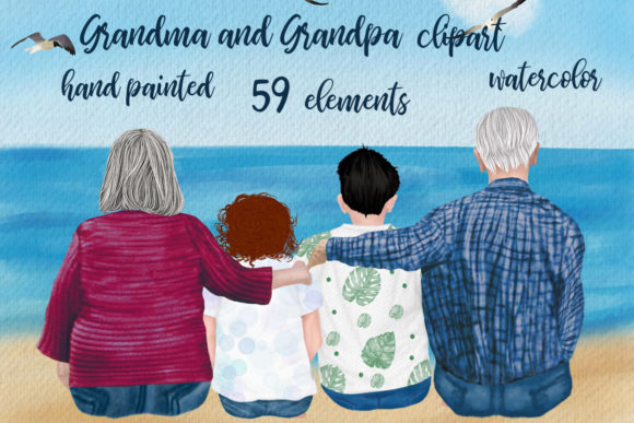 Grandparents Clipart Older People Graphic Illustrations By LeCoqDesign