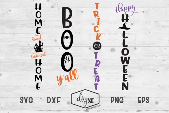Halloween Front Porch Sign Bundle Graphic Crafts By Sheryl Holst