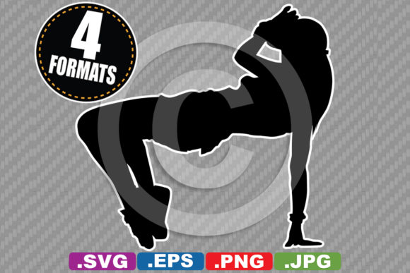 Download Free Hip Hop Dancer Silhouette Graphic By Idrawsilhouettes Creative for Cricut Explore, Silhouette and other cutting machines.