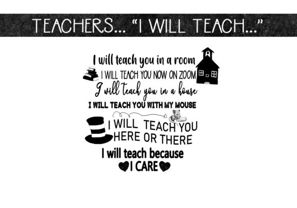 Download Free I Will Teach Because I Care Graphic By Capeairforce Creative for Cricut Explore, Silhouette and other cutting machines.