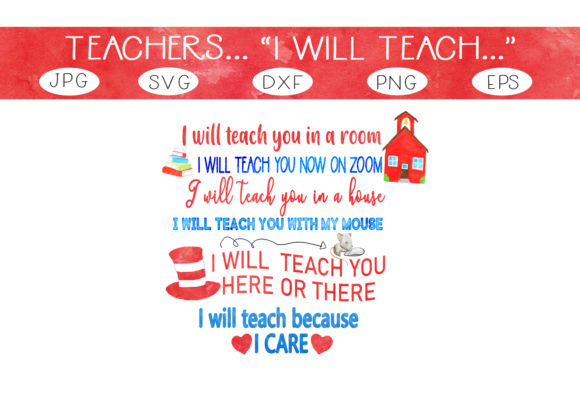 Print on Demand: I Will Teach Because I Care Graphic Crafts By CapeAirForce