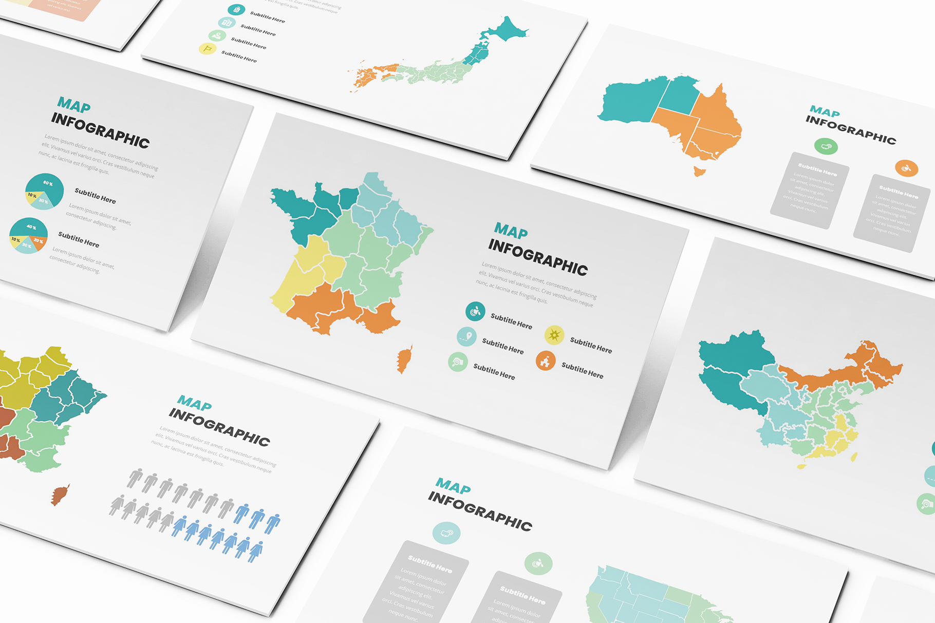 Download Free Maps Infographic Keynote Template Graphic By Formatikastd SVG Cut Files