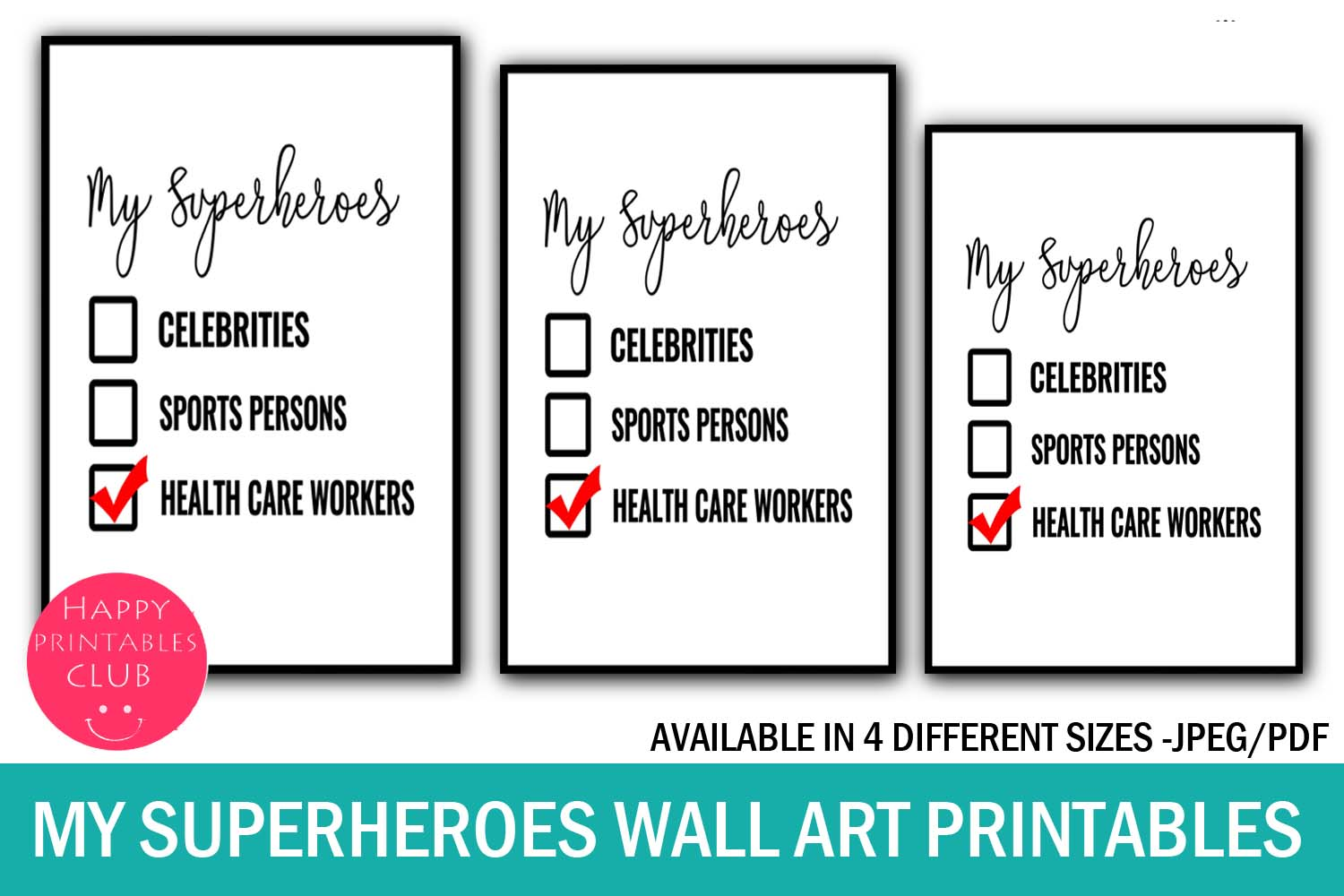 Download Free My Superheroes Health Care Workers Art Graphic By Happy for Cricut Explore, Silhouette and other cutting machines.