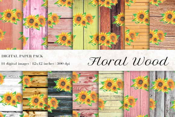 Rustic Wood Digital Papers Gráfico Texturas Por BonaDesigns