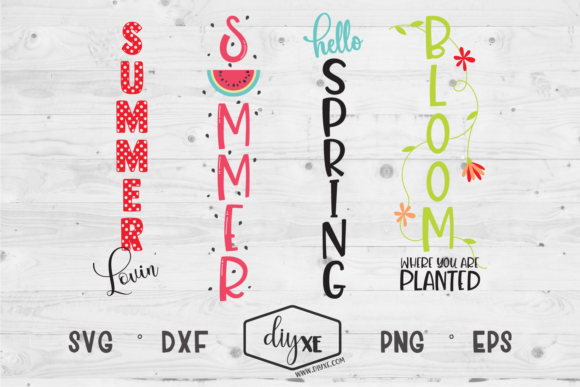 Spring/Summer Welcome Sign Bundle Graphic Crafts By Sheryl Holst