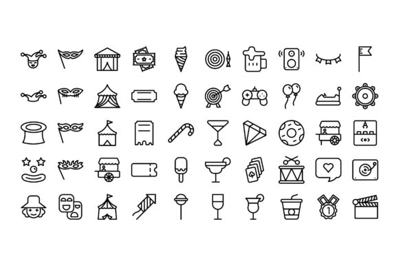 Download Free Icon Set Stationary Graphic By Darwiswianda Creative Fabrica for Cricut Explore, Silhouette and other cutting machines.