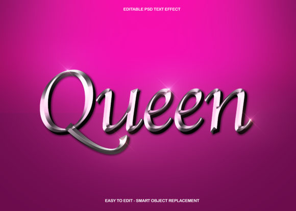 Silver Queen Text Effect Graphic Graphic Templates By knou - Image 1