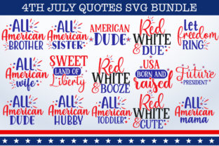 Print on Demand: 4th July Bundle Graphic Print Templates By Designdealy