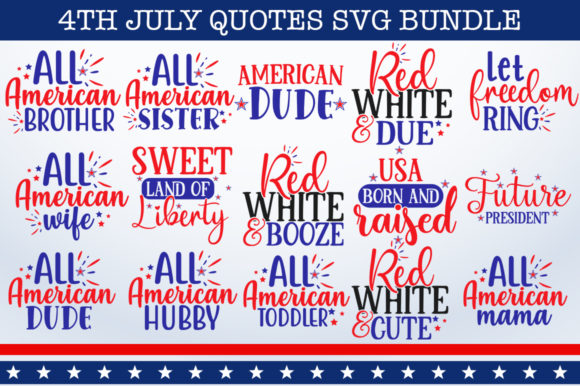 Print on Demand: 4th July Bundle Graphic Print Templates By Designdealy.com