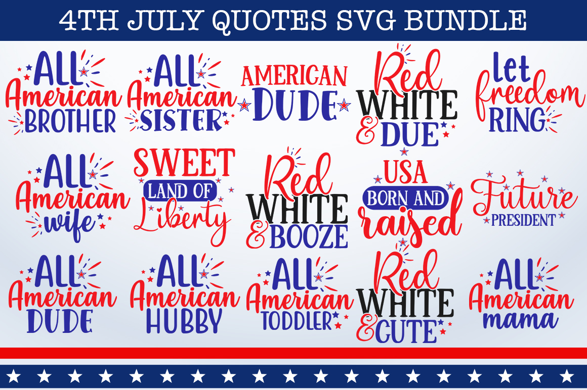 4th July Bundle Graphic By Designdealy Com Creative Fabrica