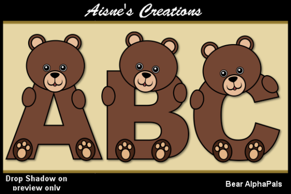 Print on Demand: Bear AlphaPals Graphic Objects By Aisne
