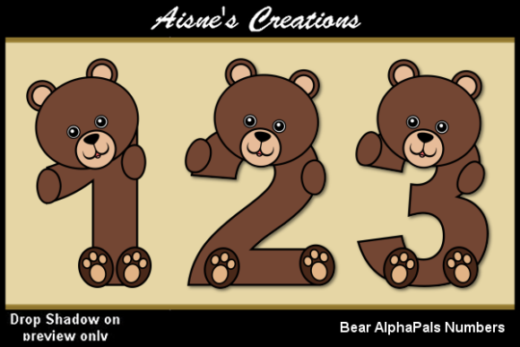 Print on Demand: Bear AlphaPals Numbers Graphic Objects By Aisne