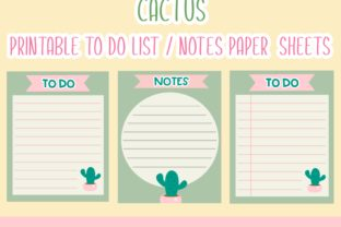 Download Free Cactus Printable To Do List Notes Sheets Graphic By Happy Kiddos for Cricut Explore, Silhouette and other cutting machines.