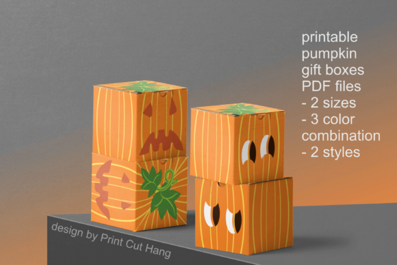 Download Free Diy Pumpkins Candy Boxes Templates Pdf Graphic By Print Cut Hang for Cricut Explore, Silhouette and other cutting machines.