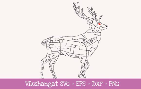 Download Free Deer Steampunk Style 1 Graphic By Vikshangat Creative Fabrica for Cricut Explore, Silhouette and other cutting machines.