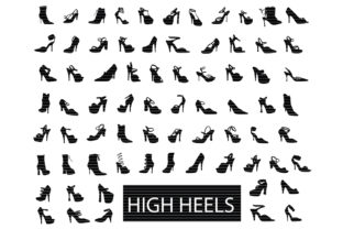 Print on Demand: High Heels Silhouette Clip Art Bundle Graphic Crafts By MeshaArts