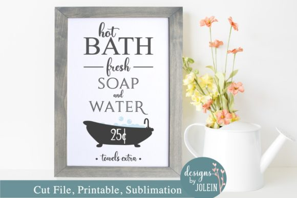 Download Free Hot Bath Graphic By Designs By Jolein Creative Fabrica for Cricut Explore, Silhouette and other cutting machines.