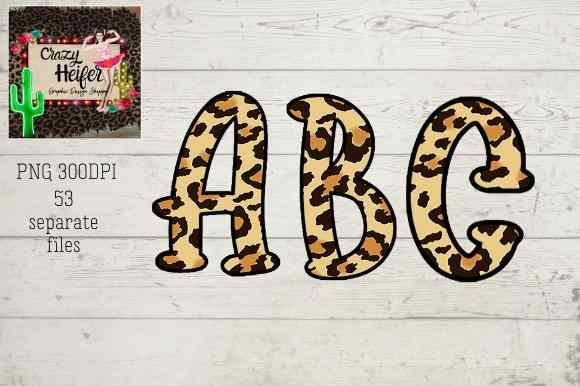 Print on Demand: Leopard Alphabet Graphic Illustrations By Crazy Heifer Design Shoppe