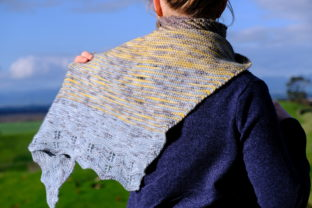 Prosper Shawl Graphic Knitting Patterns By BlackCatKnitCo
