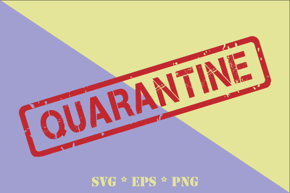 Quarantine Transparent Rubber Stamp Graphic By Graphicsfarm