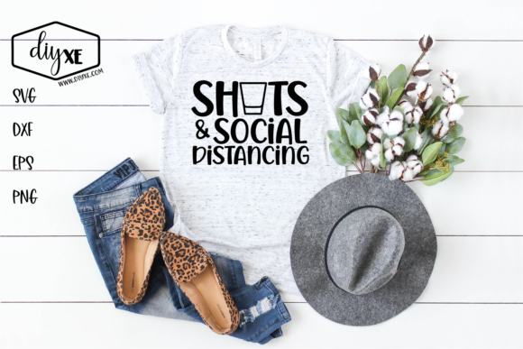 Download Free Shots Social Distancing Graphic By Sheryl Holst Creative Fabrica for Cricut Explore, Silhouette and other cutting machines.