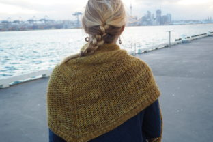 Sweet Manuka Shawl Graphic Knitting Patterns By BlackCatKnitCo