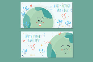 Download Free Mother Earth Day Hand Drawn Banner Pack Graphic By Aprlmp276 Creative Fabrica for Cricut Explore, Silhouette and other cutting machines.