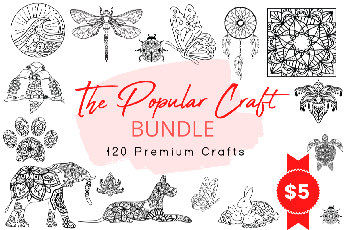 Download Free The Popular Craft Bundle Bundle Creative Fabrica for Cricut Explore, Silhouette and other cutting machines.