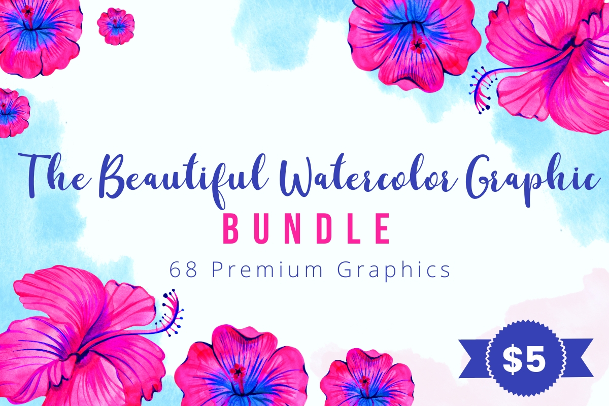 Download Free The Beautiful Watercolor Graphic Bundle Bundle Creative Fabrica for Cricut Explore, Silhouette and other cutting machines.