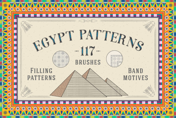 117 Egypt Patterns Brushes & Swatches Graphic Patterns By Textures